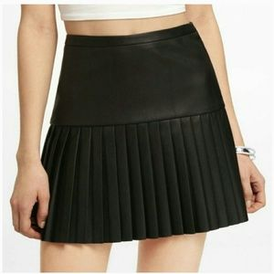 *New* Express Faux Leather Accordian Pleated Skirt